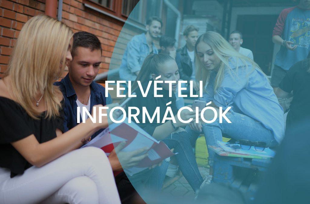 Szóbeli felvételi információk a 2019-2020. tanévre